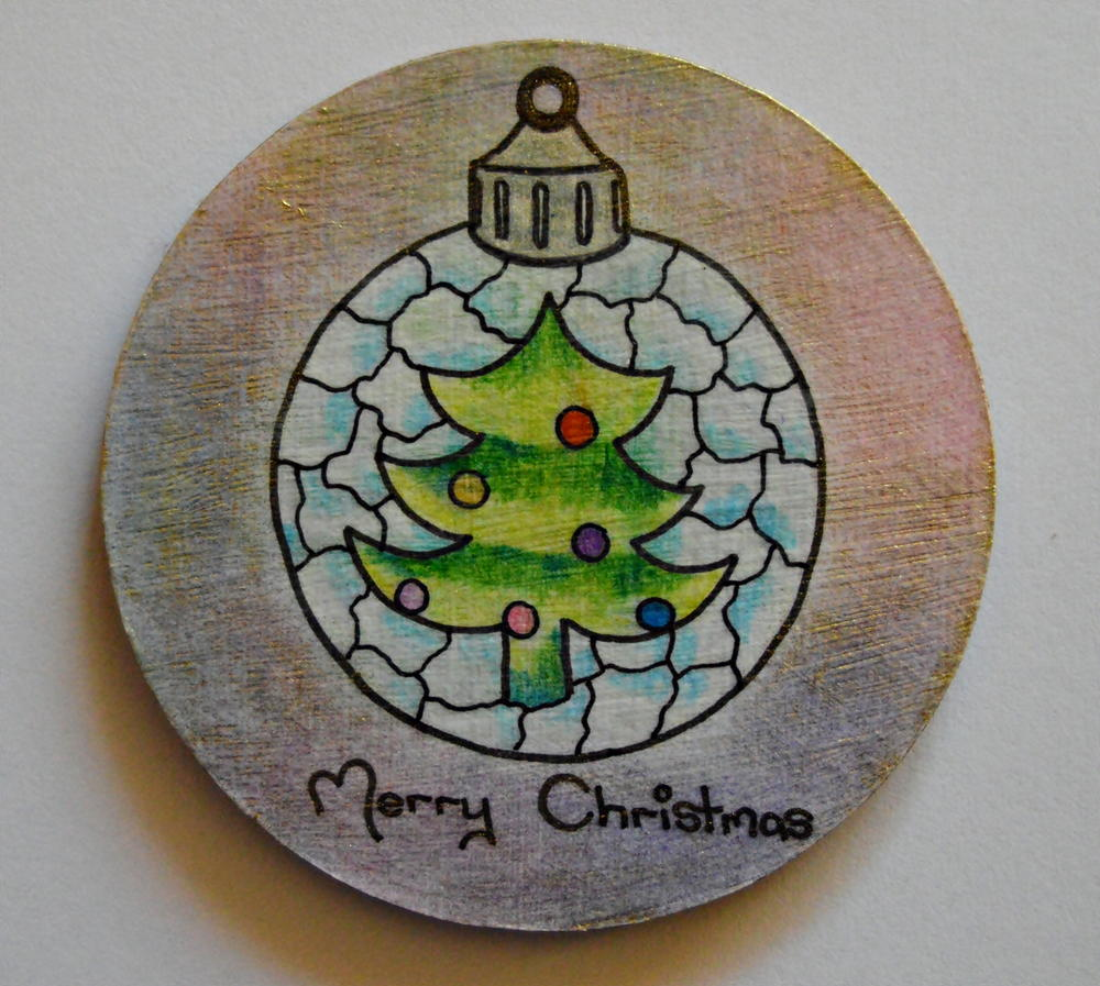 Adult Coloring Turned Christmas Coasters | AllFreeChristmasCrafts.com