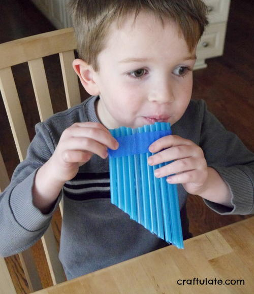 Easy Straw Pan Flute