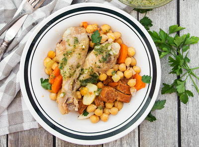 Spanish Chicken and Chickpea Stew
