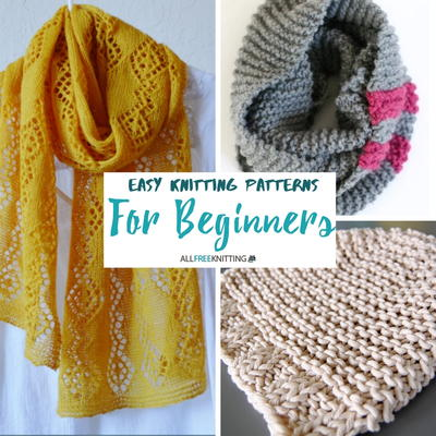 Easy Knitting Patterns for Beginners | AllFreeKnitting.com