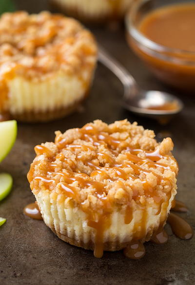 Copycat Paula Deens Mini Apple Cheesecakes