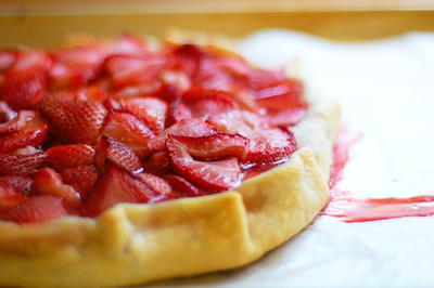 Strawberry Cream Cheese Crostata