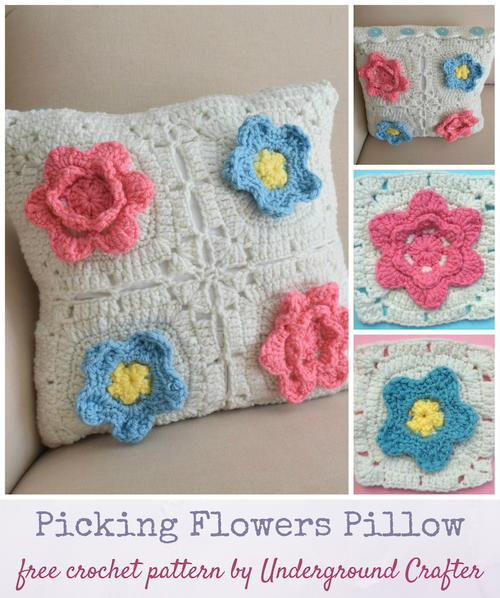 Picking Flowers Pillow