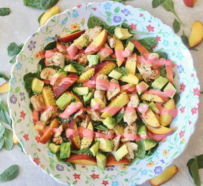 Summer Chicken & Peach Salad_1