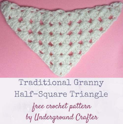 Traditional Granny Half-Square Triangle