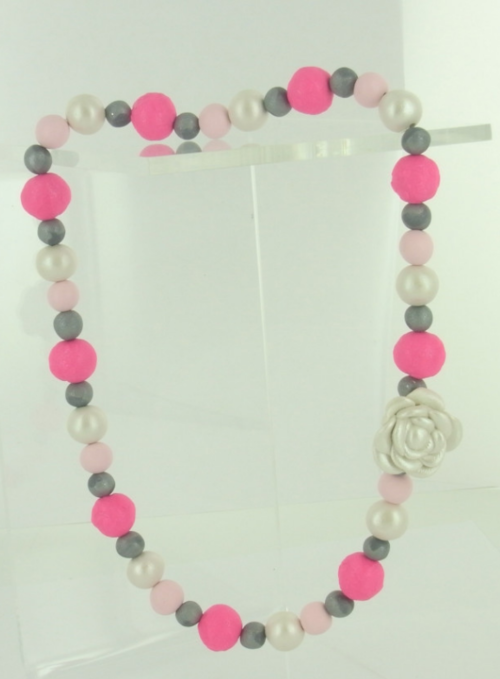 Pretty Princess Clay Bead Necklace
