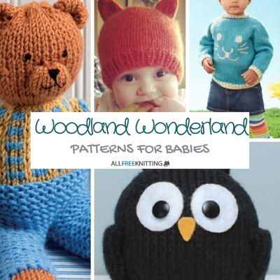 Woodland Wonderland Knitting Patterns for Babies