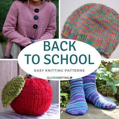 Back To School Knitting 40 Easy Knit Patterns AllFreeKnitting Simple Easy Knit Patterns