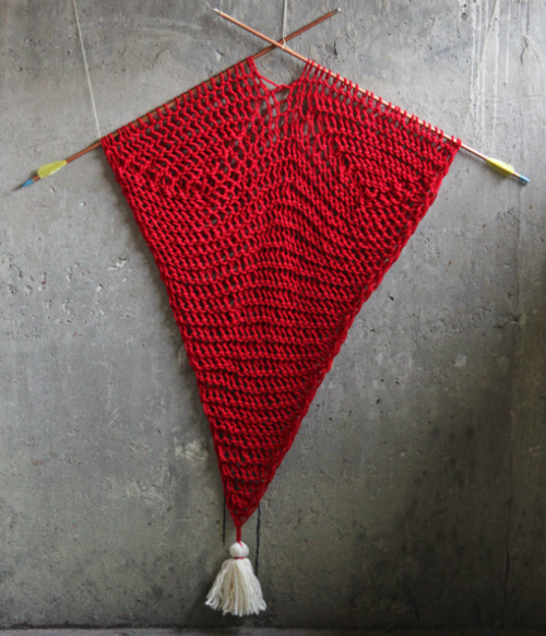 Arrowed Yarn Wall Hanging