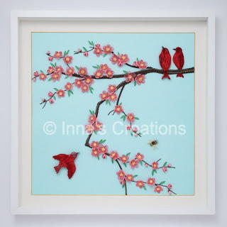 Striking Quilled Cherry Blossom Art