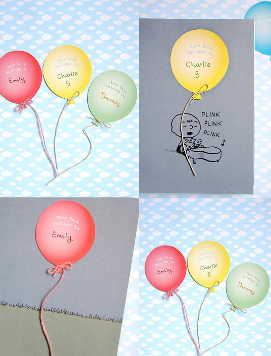 Balloon Bookplates for Young Readers