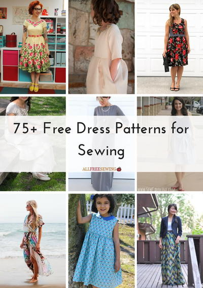 75 Free Dress Patterns for Sewing