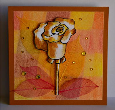 Fall Rose DIY Birthday Card