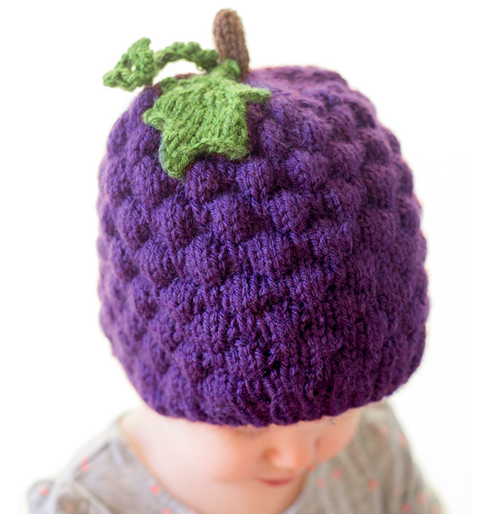 Juicy Grape Baby Hat Pattern Allfreeknitting