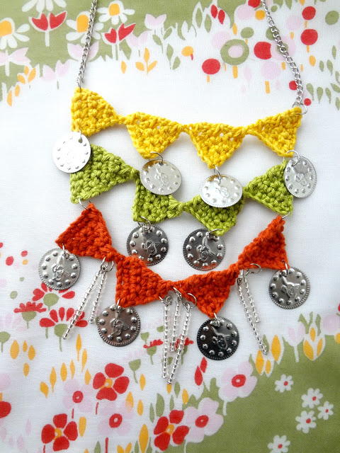 Crochet Bunting Necklace