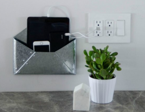 Wall Mounted DIY Charging Station