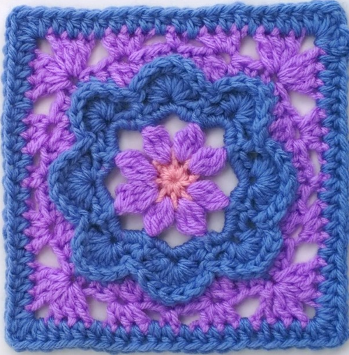 Pretty in Periwinkle Granny Square Pattern