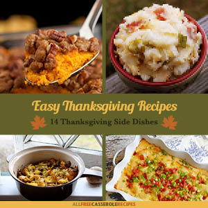 Easy Thanksgiving Recipes: 14 Thanksgiving Side Dishes Free eCookbook