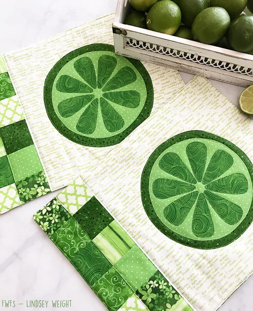 Lime Zest Placemat Pattern