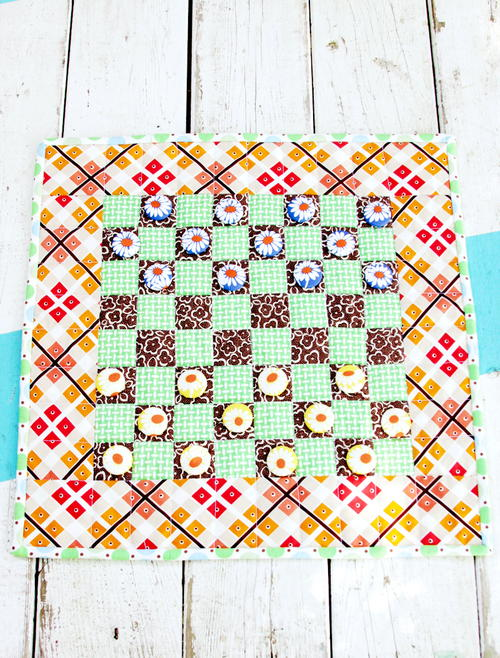 Fabric Checkerboard DIY Game