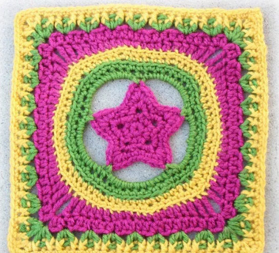 Shining Star Granny Square Pattern