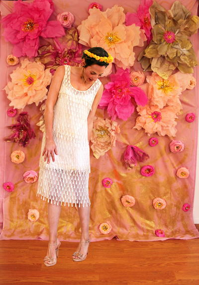Huge tissue paper flower wall allfreediyweddings huge tissue paper flower wall mightylinksfo