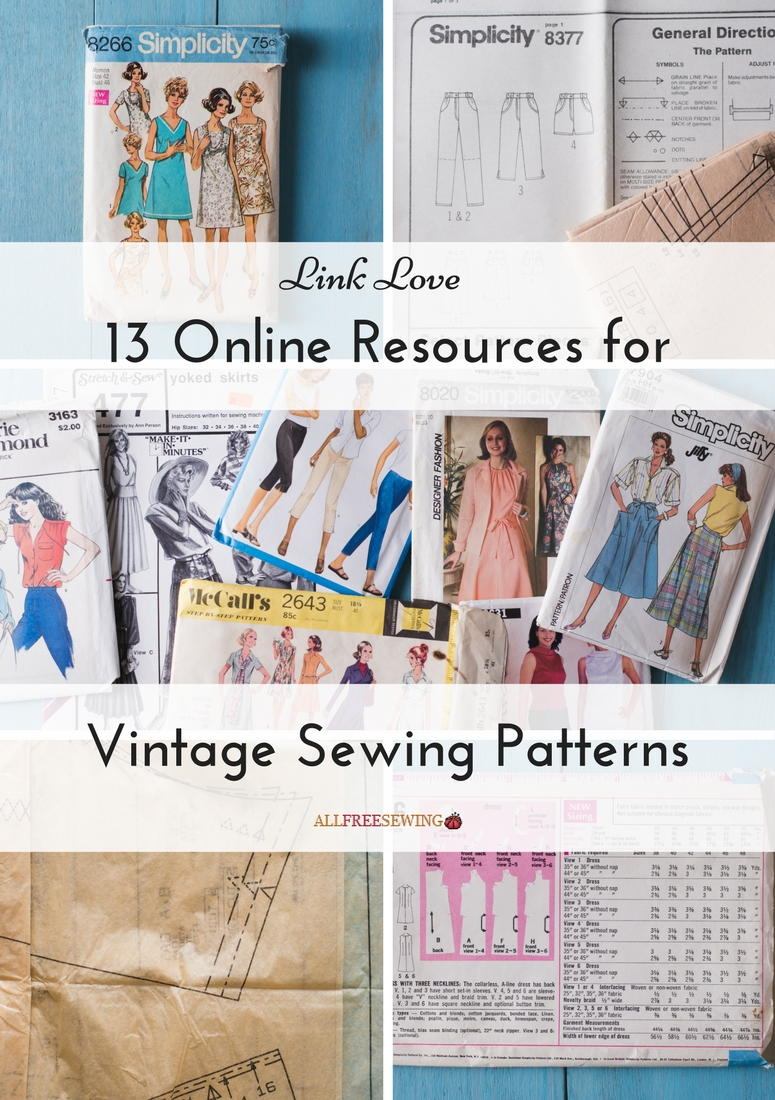 Link Love: 13 Online Resources for Vintage Sewing Patterns ...