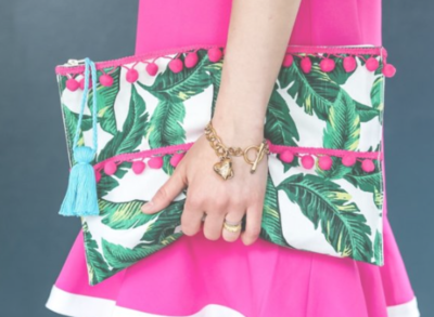 Upcycled Palm Leaf DIY Clutch