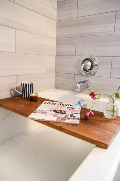 Luxurious Wooden Bath Tray