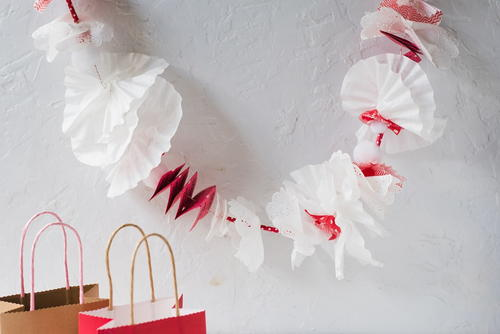 Christmas Coffee Filter Garland