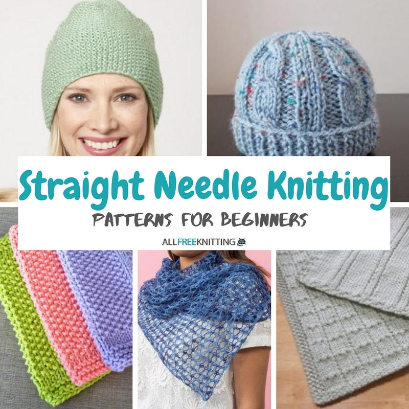 24 Straight Needle Knitting Patterns For Beginners Allfreeknitting