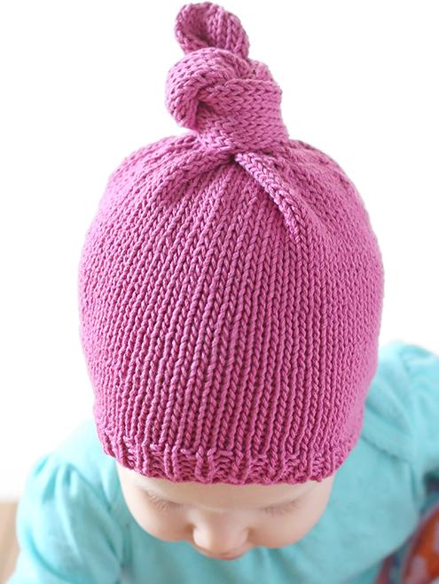 Top Knot Baby Hat Pattern Allfreeknitting