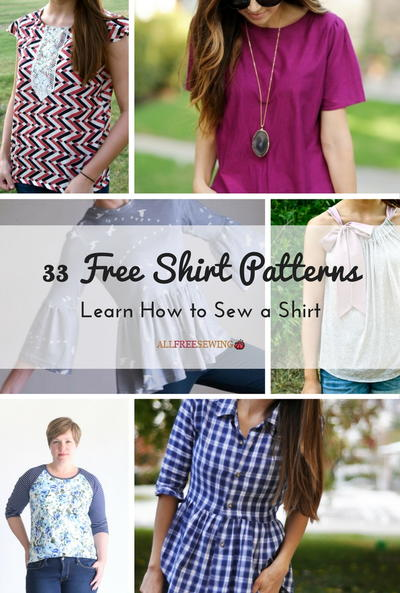 33 Free Shirt Patterns Learn How To Sew A Shirt Allfreesewing