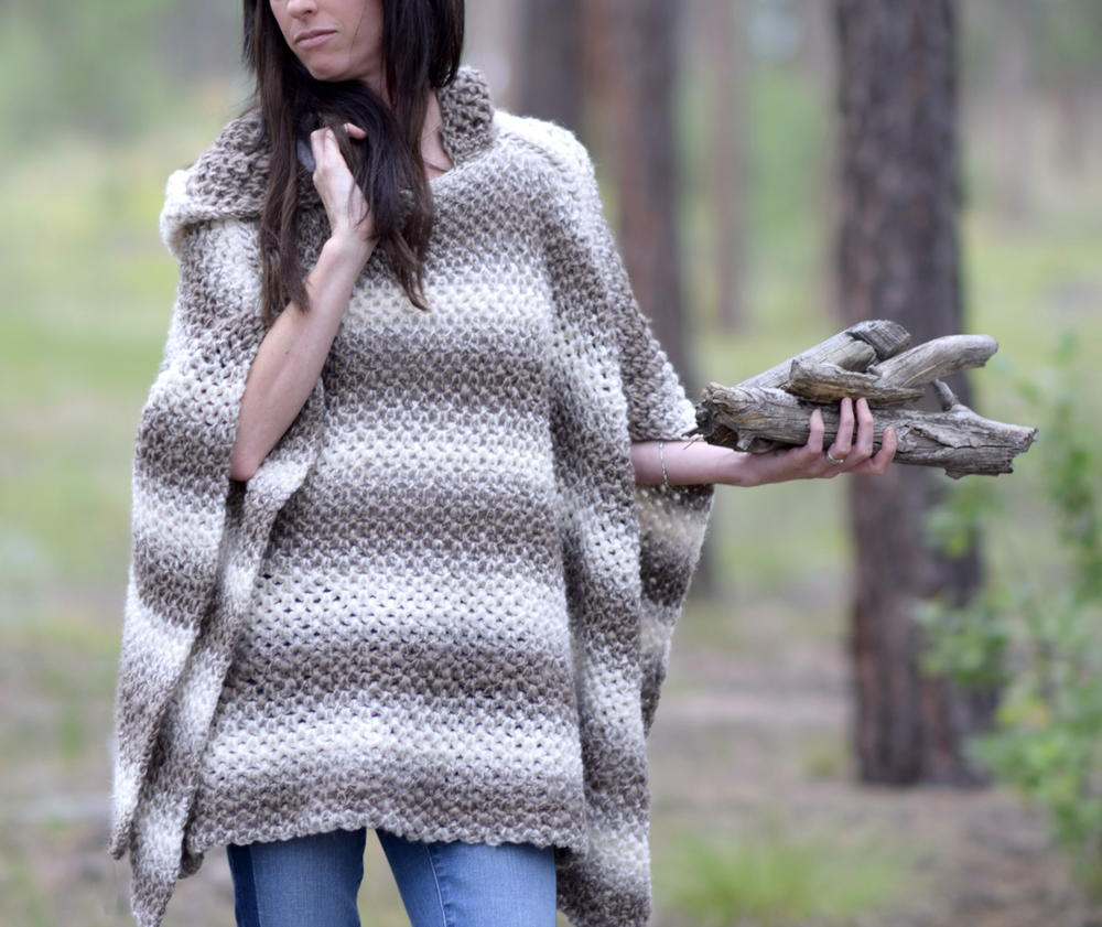 Hooded Poncho Pattern Simple Decorating