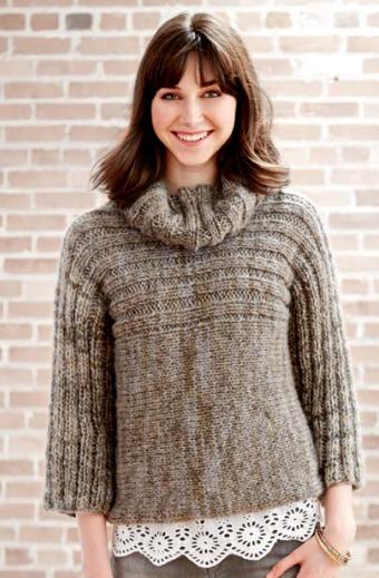 Misty Morning Knit Sweater Pattern Allfreeknitting