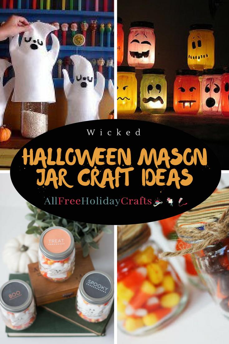 24 wicked halloween mason jar craft ideas | allfreeholidaycrafts