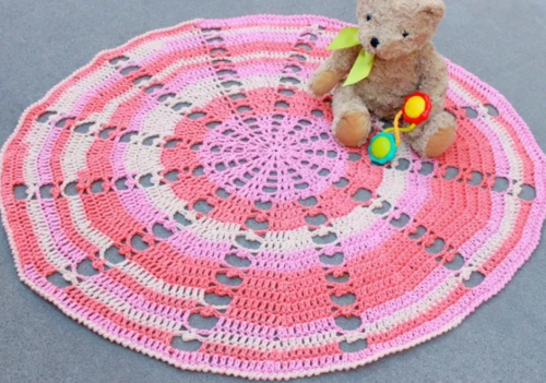 Sugar Wheel Circle Crochet Blanket Allfreecrochetafghanpatterns