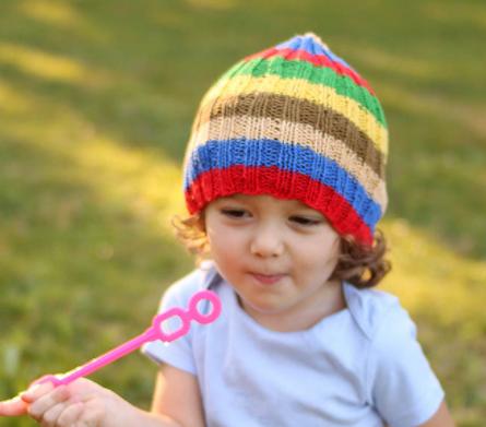 Slouchy Stripes Toddler Hat Pattern Allfreeknitting