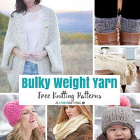 50+ Free Knitting Patterns Made with Bulky Weight Yarn