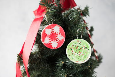 Melted Peppermint Ornaments