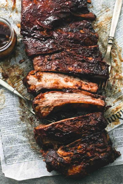 Backyard Barbecue Slow Cooker Ribs