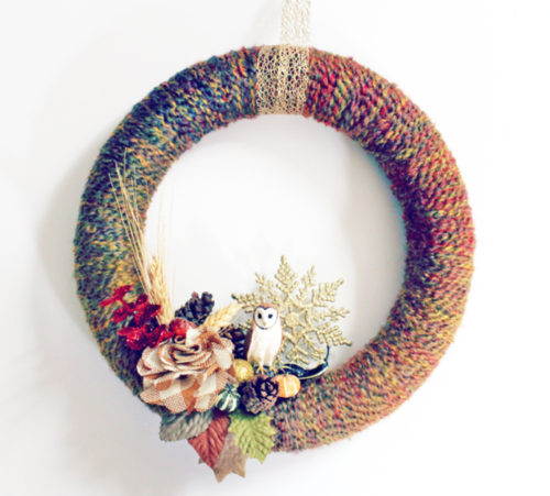 Fall Festival Yarn Wreath