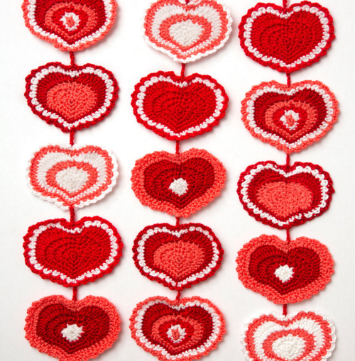 Heart Strings Crochet Garland