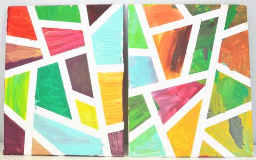 Geometric DIY Canvas Wall Art  sc 1 st  DIY Idea Center & Geometric DIY Canvas Wall Art | DIYIdeaCenter.com