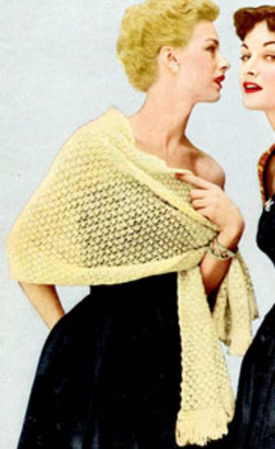 Vintage Country Club Shawl