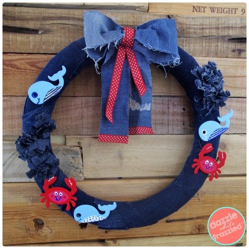 Nautical Denim Wreath