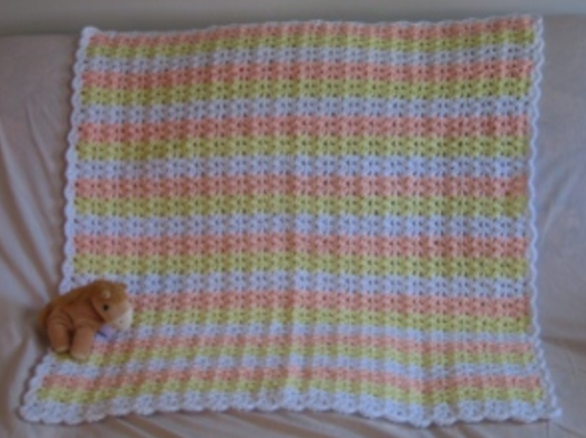 Doubles And Shells Crochet Baby Blanket