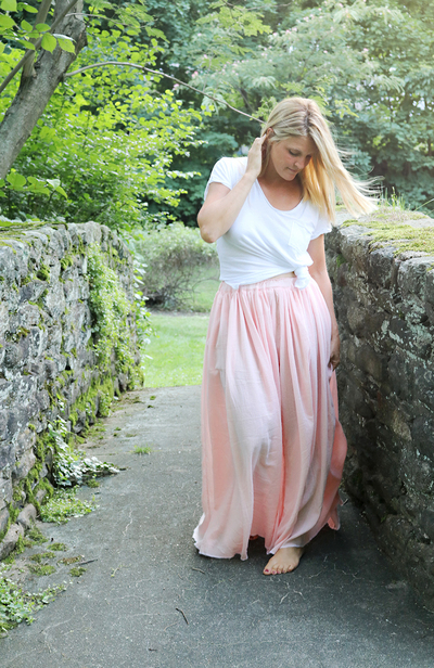 One Hour DIY Maxi Skirt