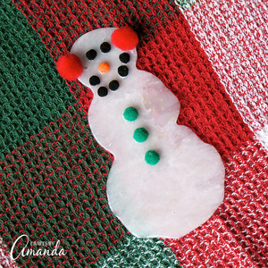 Easy Glue Christmas Snowman