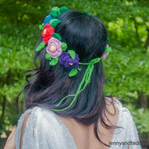 colourful flowers crown